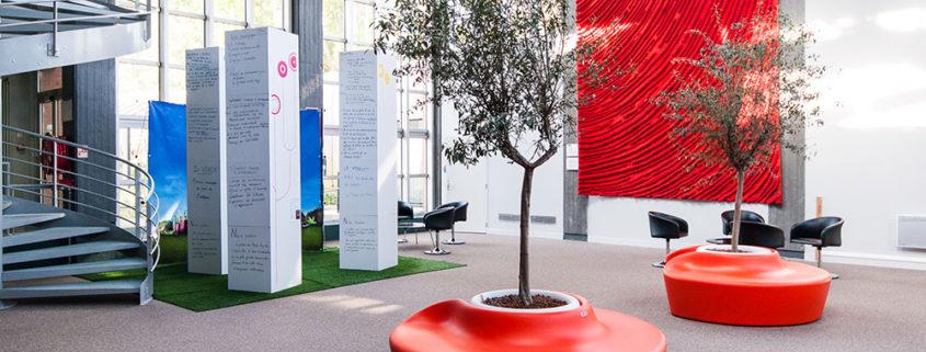Location et aménagement plantes - Espace détente - Cité des échanges