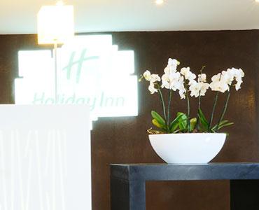 Location de plantes pour la réception d'un hôtel - Holliday Inn