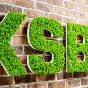 Enseigne Lumineuse sur mesure - Logo en Mousse végétale - Pour KSB - Sequedin