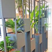 Cloisons végétales réalisées sur mesure pour le CRT - Lille