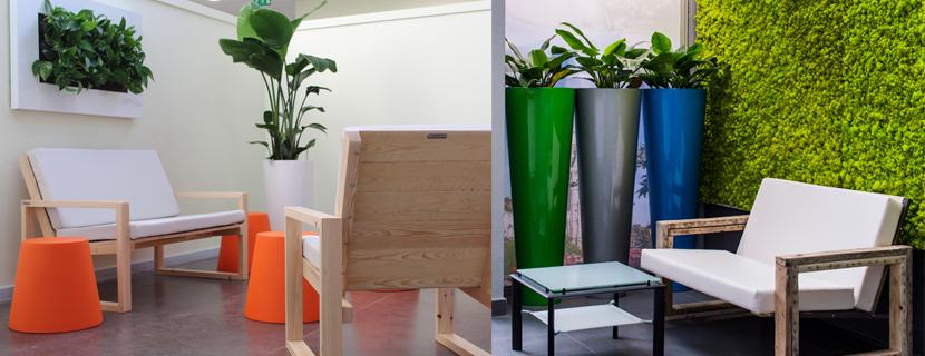 Location de plantes d'intérieur Location de mobilier