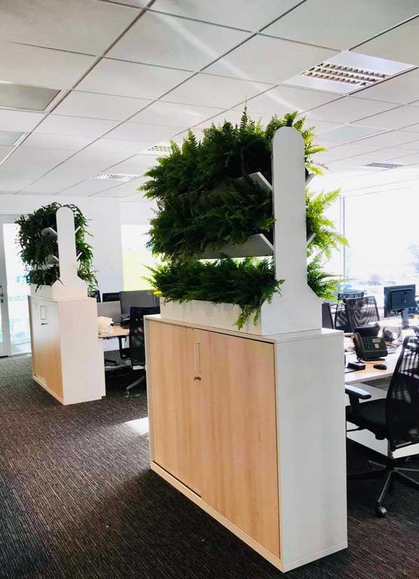 Cloison Végétale sur-mesure pour vos bureaux